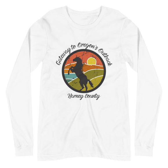 Kiger Mustang Gateway to Oregon's Outback - Unisex Long Sleeve Tee