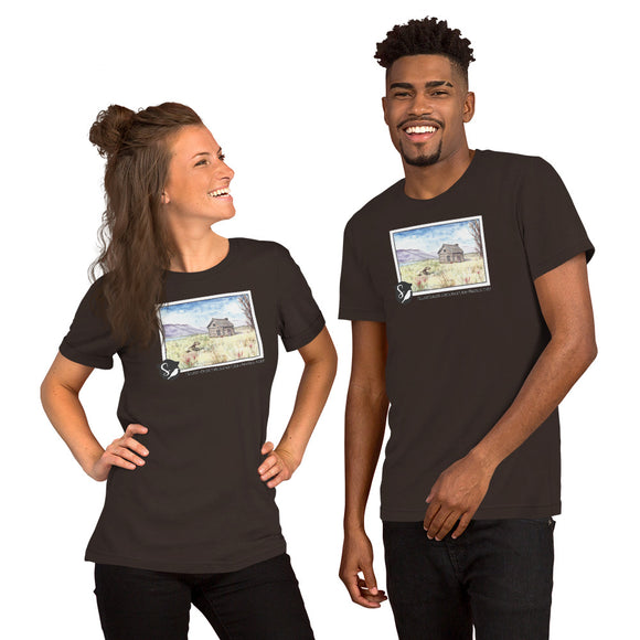 Magnus Sparrow Cabin Watercolor Short-Sleeve Unisex T-Shirt