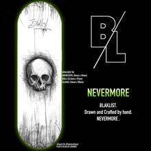 Load image into Gallery viewer, OG SKULL NEVERMORE - White - Blaklist Fingerboard