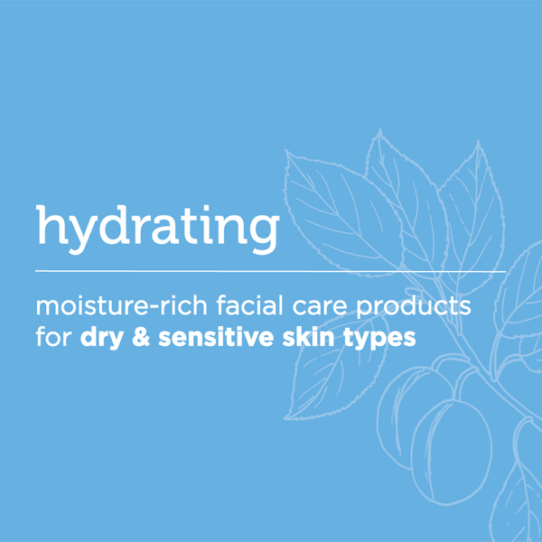 hydrating: moisture-riche facial care products for dry & sensitive skin types