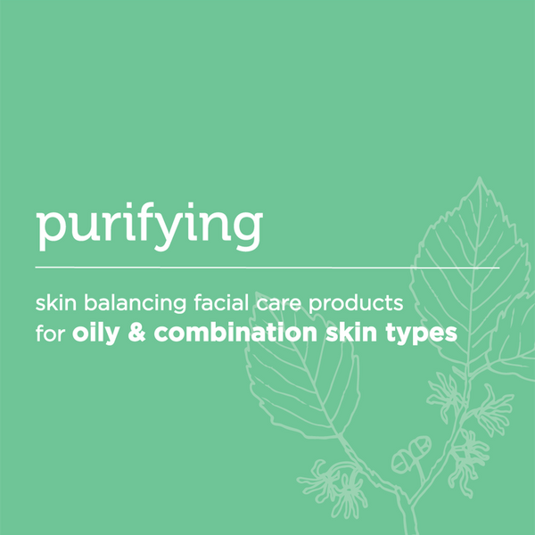 purifying: skin balancing facial care for oily and combination skin types