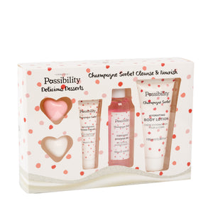 POSSIBILITY 5 PIECE GIFT SET CLEANSE & NOURISH CHAMPAGNE SORBET - Beauty Bar