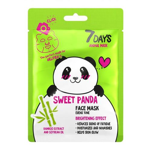 7DAYS ANIMAL FACE MASK SWEET PANDA - Beauty Bar Cyprus