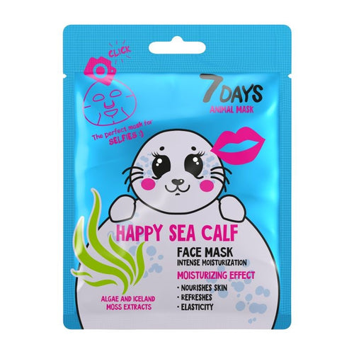 7DAYS ANIMAL FACE MASK HAPPY SEA CALF - Beauty Bar Cyprus