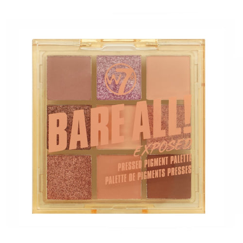 W7 BARE ALL PRESSED PIGMENT PALETTE - EXPOSED - Beauty Bar Cyprus