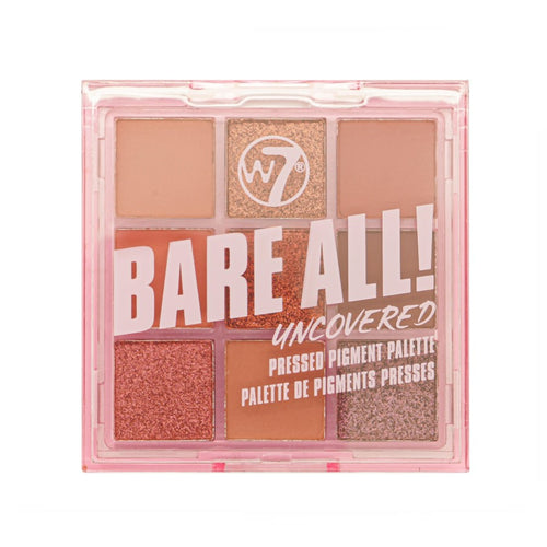 W7 BARE ALL PRESSED PIGMENT PALETTE - UNCOVERED - Beauty Bar Cyprus