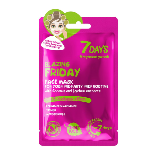 7DAYS BLAZING FRIDAY FACE MASK WITH COCONUT WATER & LYCHEE EXTRACT - Beauty Bar Cyprus