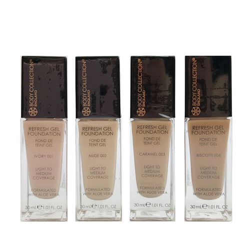 BODY COLLECTION REFRESH GEL FOUNDATION - AVAILABLE IN A VARIETY OF SHADES - Beauty Bar Cyprus