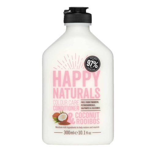 HAPPY NATURALS COLOUR CARE - COCONUT + ROOIBOS CONDITIONER 300ML - Beauty Bar Cyprus