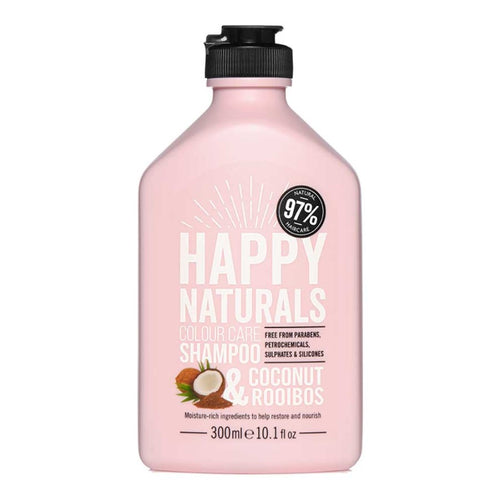 HAPPY NATURALS COLOUR CARE - COCONUT + ROOIBOS SHAMPOO 300ML - Beauty Bar Cyprus
