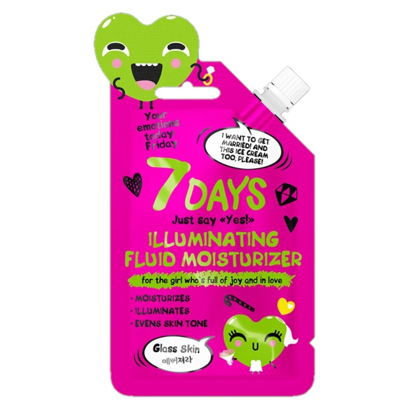 7DAYS YOUR EMOTIONS TODAY ILLUMINATING FLUID MOISTURIZER - Beauty Bar Cyprus