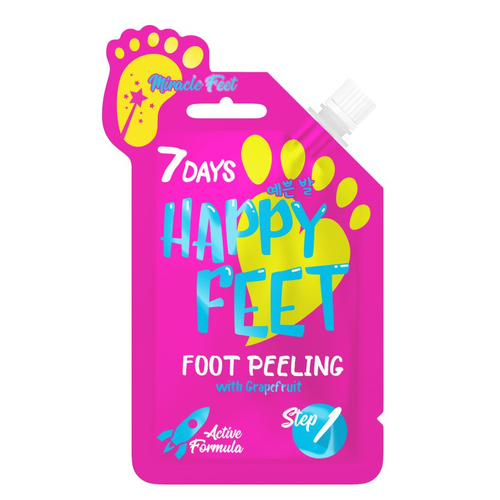 7DAYS HAPPY FEET PEELING 25 ML MIRACLE FEET WITH GRAPEFRUIT - Beauty Bar Cyprus