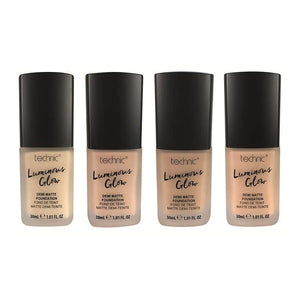 TECHNIC LUMINOUS GLOW DEMI MATTE FOUNDATION - AVAILABLE IN 4 SHADES - Beauty Bar