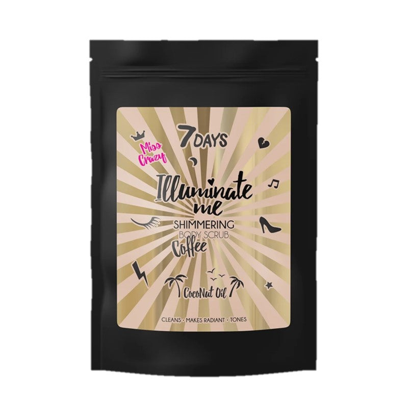 7DAYS ILLUMINATE ME MISS CRAZY 200 G SHIMMERING BODY SCRUB - Beauty Bar Cyprus