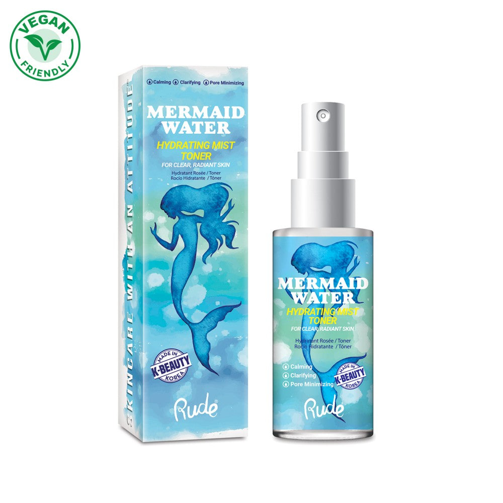 RUDE MERMAID WATER HYDRATING MIST TONER - Beauty Bar Cyprus