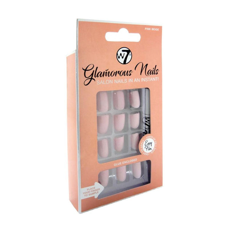 W7 GLAMOROUS NAILS - PINK BEIGE - Beauty Bar Cyprus