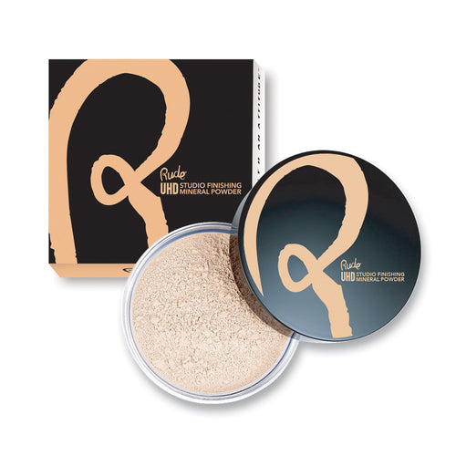 RUDE ULTRA HIGH DEFINITION STUDIO FINISHING MINERAL POWDER - BANANA - Beauty Bar Cyprus