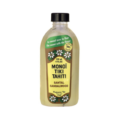 MONOI TIKI TAHITI SANDALWOOD NATURAL OIL 120ML - Beauty Bar Cyprus
