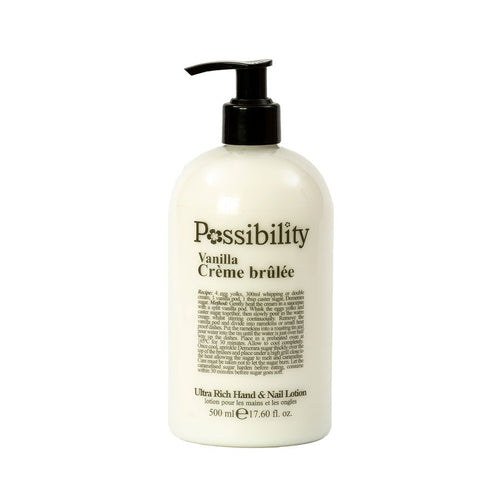 POSSIBILITY VANILLA CREME BRULEE BODY LOTION 500ML - Beauty Bar