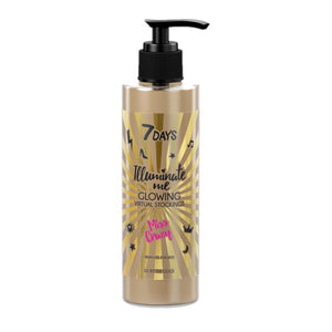 7DAYS ILLUMINATE ME MISS CRAZY 200 ML CREAM GEL FOR LEGS 'GLOWING VIRTUAL STOCKINGS' - Beauty Bar Cyprus