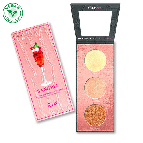 RUDE COCKTAIL PARTY LUMINOUS HIGHLIGHT / EYESHADOW PALETTE - SANGRIA - Beauty Bar Cyprus