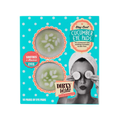 DIRTY WORKS CUCUMBER EYE PADS (10 PAIRS) - Beauty Bar Cyprus