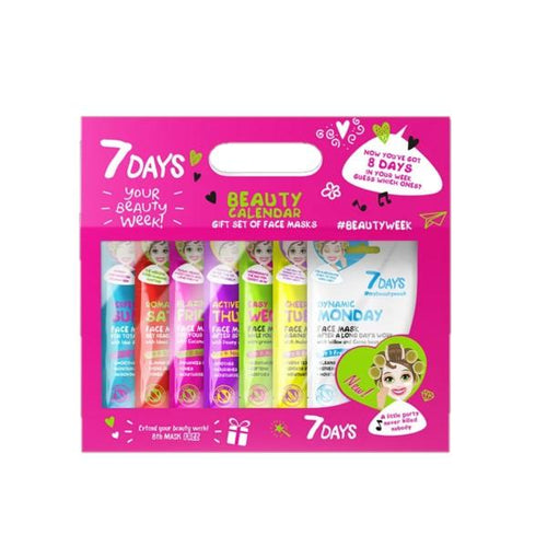 7DAYS BEAUTY CALENDAR GIFT SET OF 7+1 FACE MASKS - Beauty Bar Cyprus