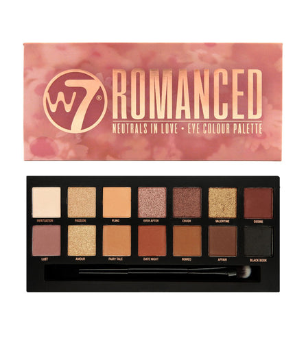 W7 ROMANCED EYE SHADOW PALETTE - Beauty Bar Cyprus