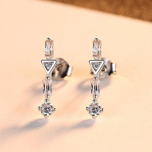 Exquisite Sterling Silver Stud Earrings