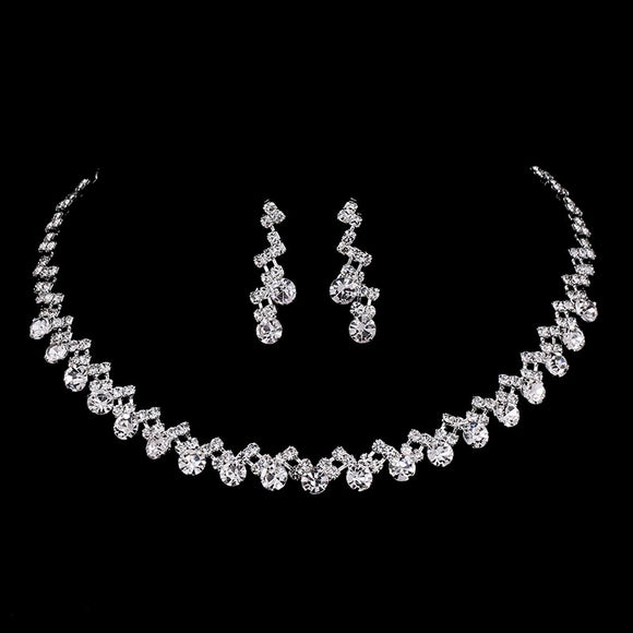 Waving Crystal Bridal Jewelry Set
