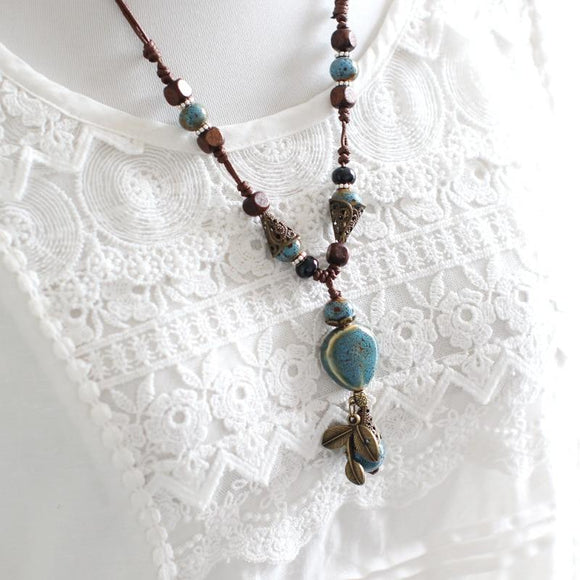 Ceramic Statement Necklace