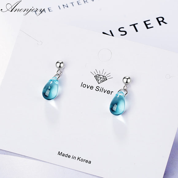 Sweet Blue Stud Earrings