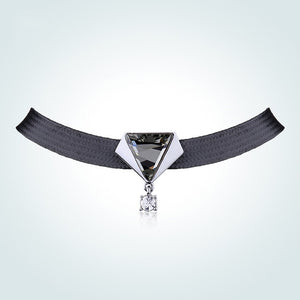 Swarovski Baroque Black Rope Choker Necklace