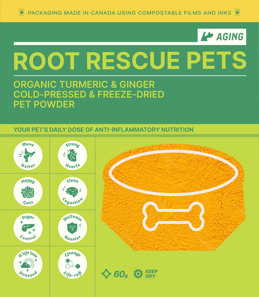 Root Rescue Pets! AGING: Turmeric & Ginger Powder