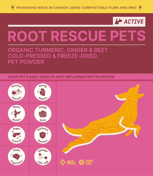 Root Rescue Pets! ACTIVE: Turmeric, Ginger & Beet Powder