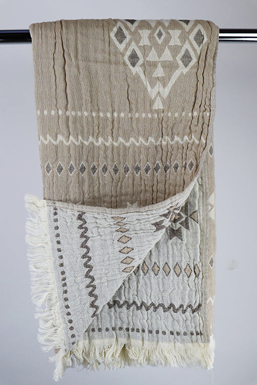 Hammam Ethnic beige/brown doublesided