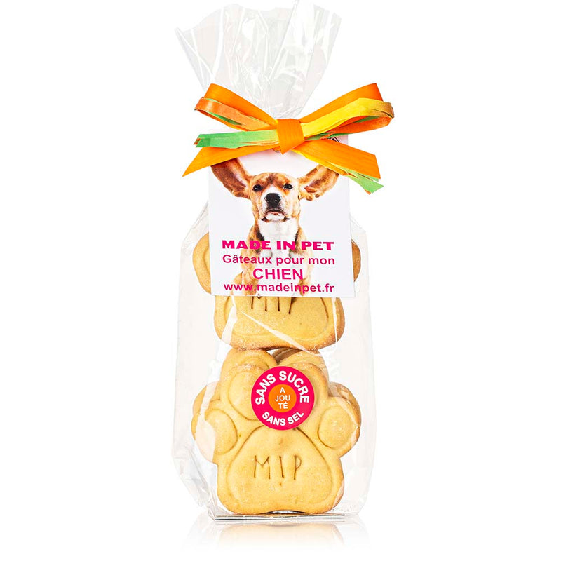 "Biscuits ""Patte Made in Pet"" pour chiens - Poulet"
