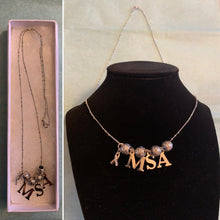 Load image into Gallery viewer, MSA Multiple System Atrophy Awareness Ribbon Necklace