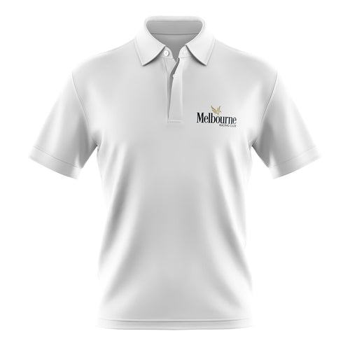 MRC White Members' Polo