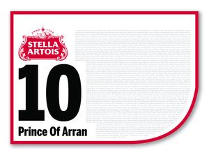 2020 Stella Artois Caulfield Cup Members' Saddlecloth #10 Prince Of Arran (GB)