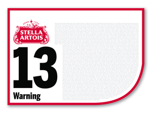 2020 Stella Artois Caulfield Cup Members' Saddlecloth #13 Warning