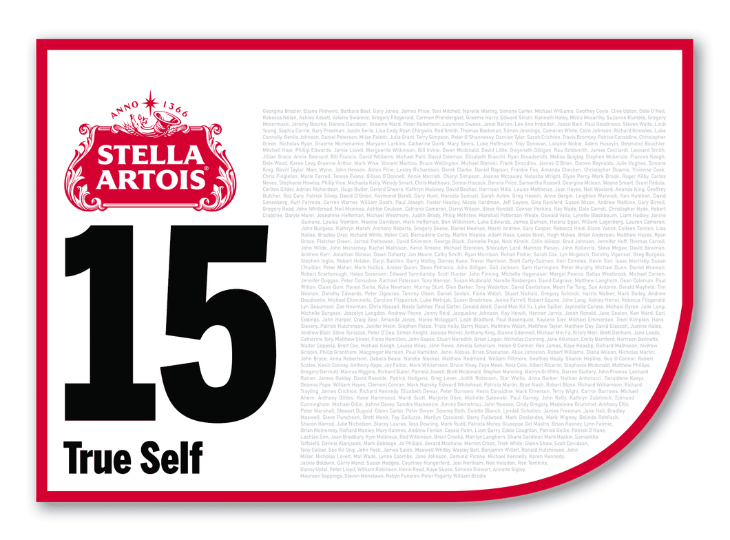 2020 Stella Artois Caulfield Cup Members' Saddlecloth #15 True Self (IRE)