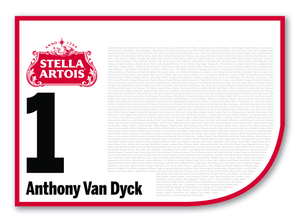 2020 Stella Artois Caulfield Cup Members' Saddlecloth  #1 Anthony Van Dyck (IRE)