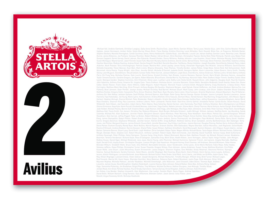 2020 Stella Artois Caulfield Cup Members' Saddlecloth #2 Avilius (GB)