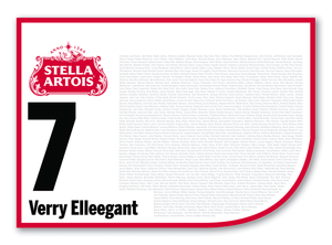2020 Stella Artois Caulfield Cup Members' Saddlecloth #7 Verry Elleegant (NZ)