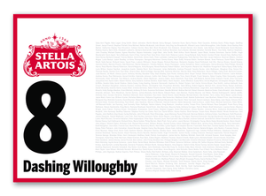 2020 Stella Artois Caulfield Cup Members' Saddlecloth #8 Dashing Willoughby (GB)