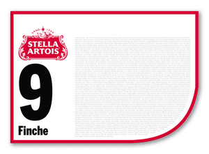 2020 Stella Artois Caulfield Cup Members' Saddlecloth #9 Finche (GB)
