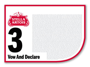 2020 Stella Artois Caulfield Cup Members' Saddlecloth  #3 Vow And Declare