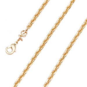 The Golden Gate - Yellow Gold-Rhodium Plated Oval Cable Chain - The Avantguard