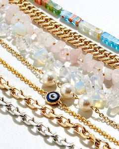 The Kyoto - Cable Chain with Swarovski Crystal Pearls - The Avantguard